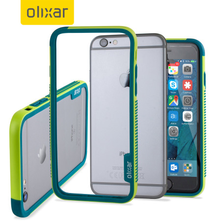 olixar flexiframe iphone 6s plus bumper case - green reviews