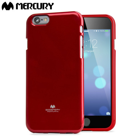 coque iphone 6s 6 mercury goospery jelly gel rouge. Black Bedroom Furniture Sets. Home Design Ideas
