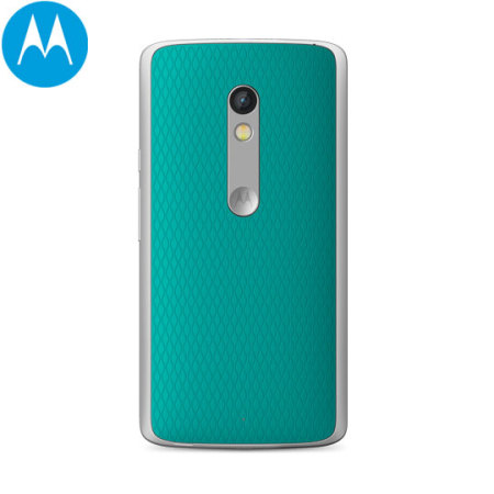 sale retailer 3e30b 1a642 Official Motorola Moto X Play Shell Replacement Back Cover - Turquoise