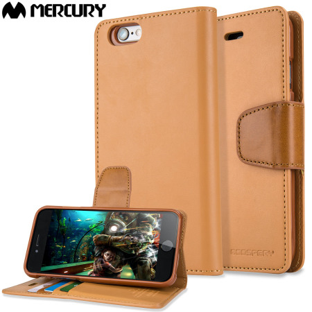 Mercury Sonata Diary iPhone 6S / 6 Premium Wallet Case - Camel