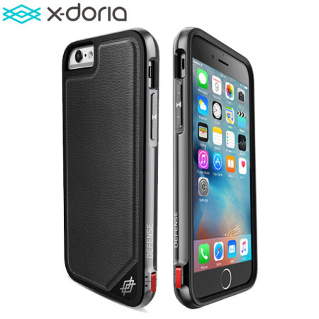 the best attitude 5c745 069f8 X-Doria Defense Lux iPhone 6S / 6 Tough Case - Black Leather