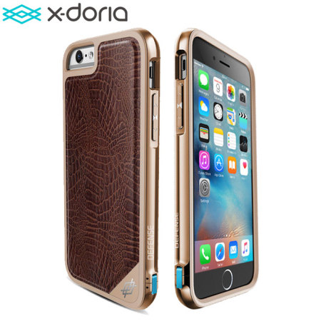 x doria defense lux iphone 6s 6 tough case   brown croc