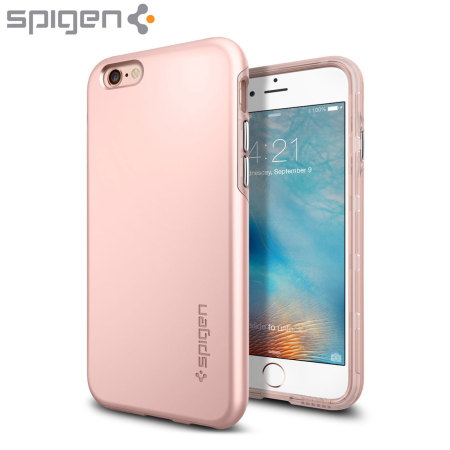 Funda iPhone 6S Plus   6 Plus Spigen Thin Fit Hybrid - Rosa dorado 7aeca4a253