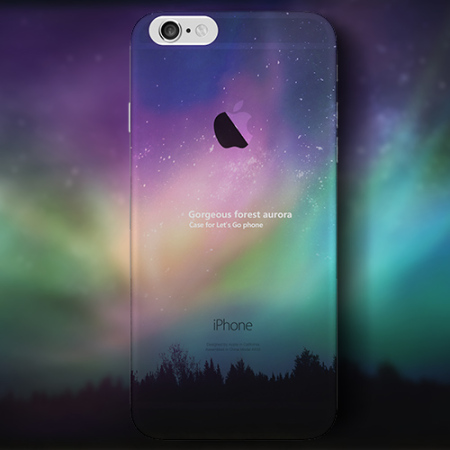 Ultra-Thin iPhone 6S TPU Gel Case - Northern Lights