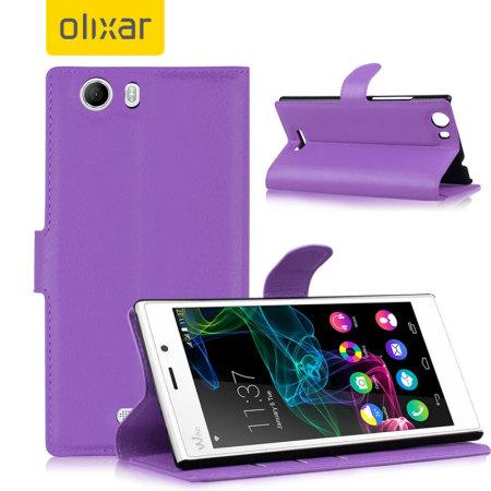Olixar Wiko Ridge 4G Wallet Case - Purple