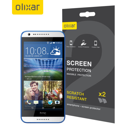 Olixar HTC Desire 620 Screen Protector 2-in-1 Pack