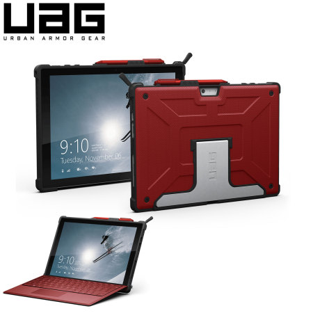 Housse microsoft surface pro 4 uag scout rouge for Housse surface pro 4