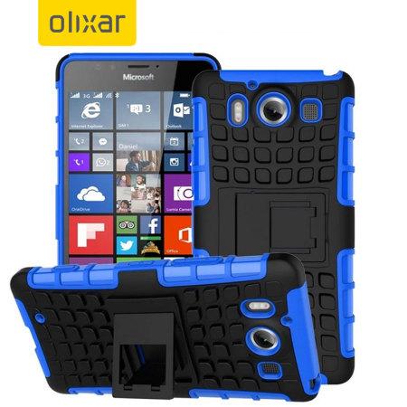 Armourdillo Hybrid Protective Case voor de Lumia 950 - Blauw