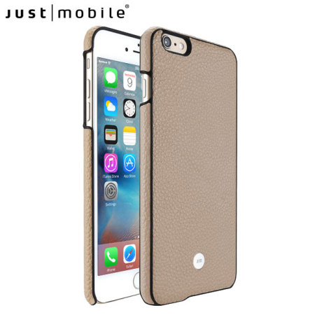 Just Mobile Quattro Genuine Leather iPhone 6S / 6 Case - Beige