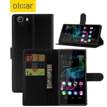 Olixar Wiko Ridge Fab 4G Wallet Case - Black