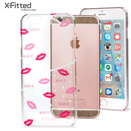 X-Fitted Angel's Kiss iPhone 6S / 6 Case - Clear / Pink
