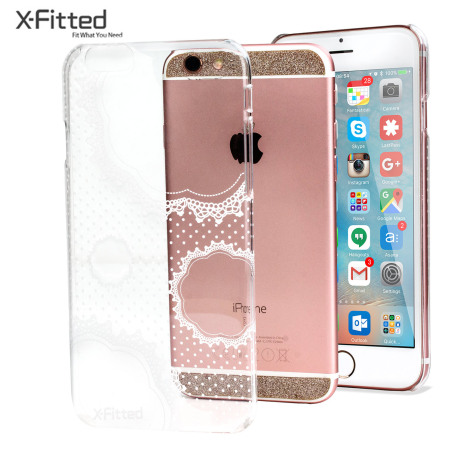 X Fitted Pure Lace Iphone 6s 6 Case Clear White