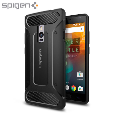 outlet store b8bed f21ba Spigen Rugged Armor OnePlus 2 Tough Case - Black