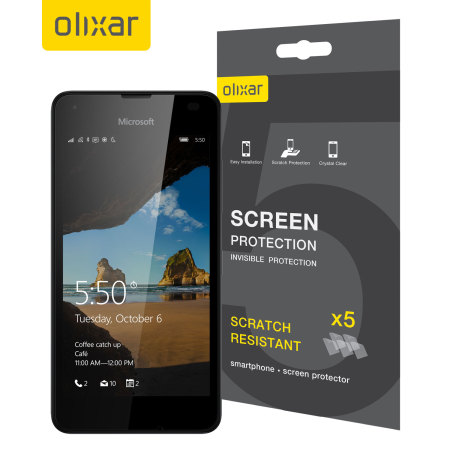Olixar Microsoft Lumia 550 Screen Protector 5-in-1 Pack