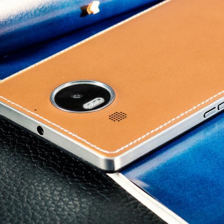 mozo microsoft lumia 950 wireless charging back cover cognac