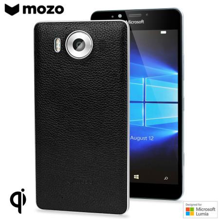 mozo lumia 950 echt leren back cover zwart