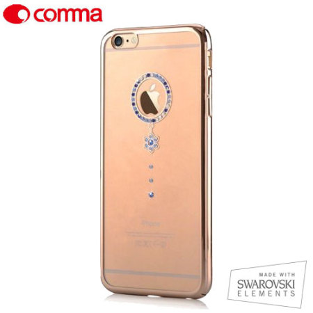 Comma Blue Diamond iPhone 6S / 6 Case - Clear / Gold