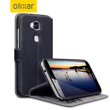 Olixar Low Profile Huawei G8 Wallet Case - Black