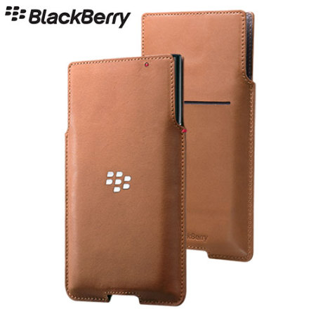 Official Blackberry Priv Leather Pocket Case Cover - Brown