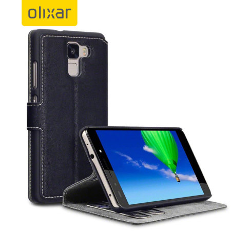 Olixar Low Profile Huawei Honor 7 Wallet Case - Black