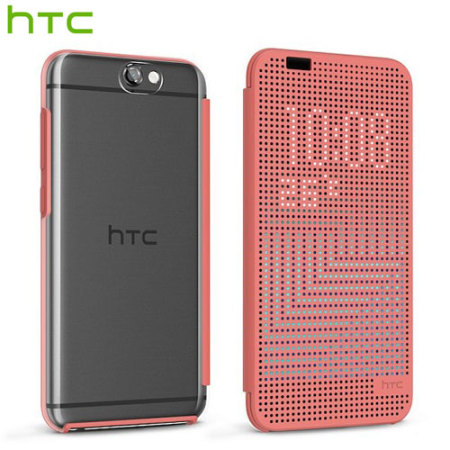 quality design e681d 43124 Official HTC One A9 Dot View Ice Premium Case - Salmon Pink