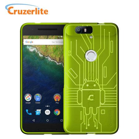 Cruzerlite Bugdroid Circuit Nexus 6P Case - Green