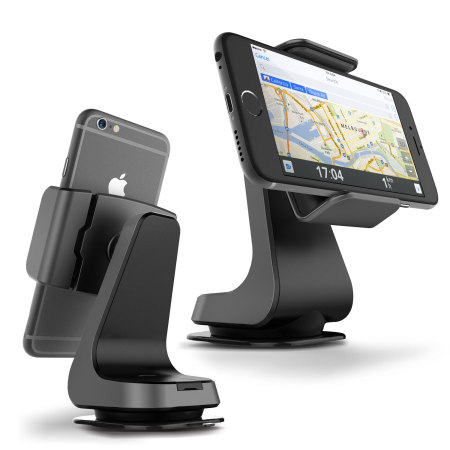 Verus Hybrid Grab Universal In-Car Mount - Dark Silver / Black