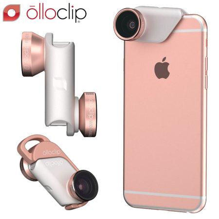 san francisco b15fc cd187 olloclip 4-in-1 iPhone 6S / 6S Plus Lens Kit - Rose Gold / White