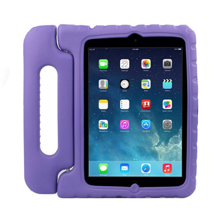 iPad Mini Handle Stand Shock Proof Handle Case For Kids - Purple