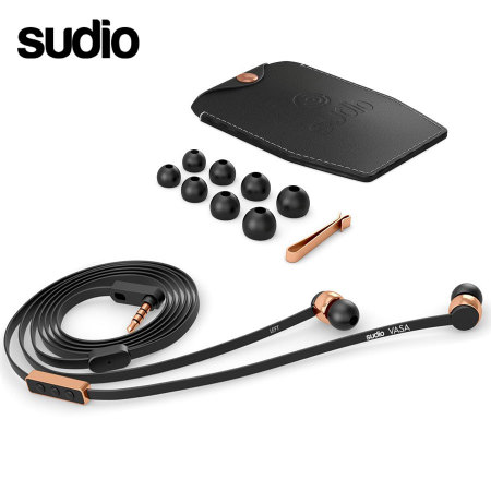 Sudio VASA Earphones For iOS - Rose Gold/Black