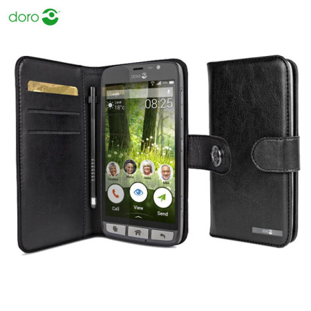 official doro leather style liberto 825 wallet case black
