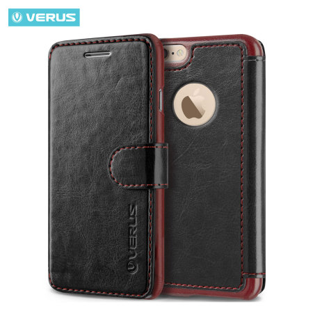 Verus Dandy Leather-Style iPhone 6S Plus/6 Plus Wallet Case - Black