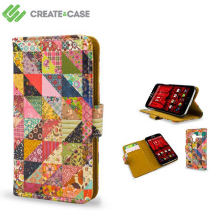 Create And Case Motorola Moto X 1st Gen Book Case - Grandma's Quilt