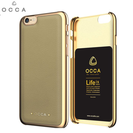 Occa Absolute Premium Leather iPhone 6S / 6 Shell Case - Khaki
