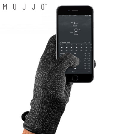 Mujjo Double-Layered Touchscreen Large Gloves - Black
