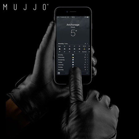 Mujjo Genuine Leather Touchscreen Gloves - Size 9