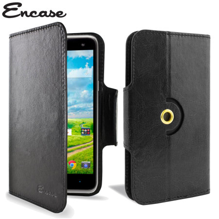 Encase Rotating Leather-Style ZTE Grand X2 Wallet Case - Black