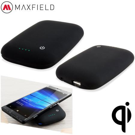 Maxfield Qi Wireless Charging Power Bank 4000mAh - Black