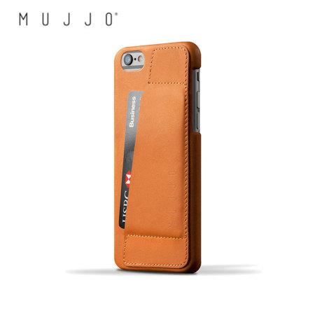 Mujjo Leather Wallet Case 80° iPhone 6S/6 Case - Tan