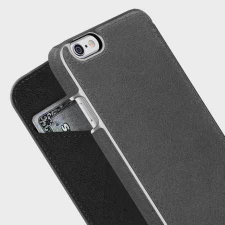 pretty nice d24e3 a36a3 Adopted Leather Folio iPhone 6S Plus / 6 Plus Wallet Case - Charcoal