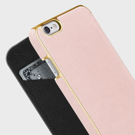 size 40 b40e7 220f0 Adopted Leather Folio iPhone 6S Plus / 6 Plus Wallet Case - Pink