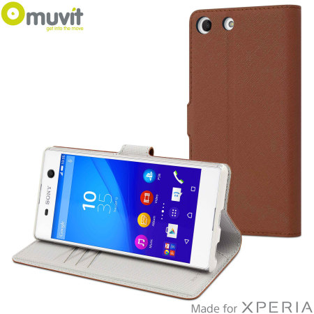 Muvit Wallet Folio MFX Sony Xperia M5 Case - Brown