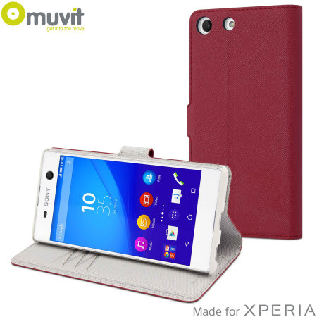 Muvit Wallet Folio MFX Sony Xperia M5 Case - Red