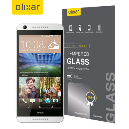 this brilliant olixar htc desire 626 tempered glass screen protector
