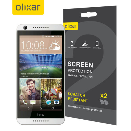 Olixar HTC Desire 626 Screen Protector 2-in-1 Pack