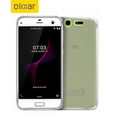 Olixar FlexiShield ZTE Blade S7 Gel Case - Frost White