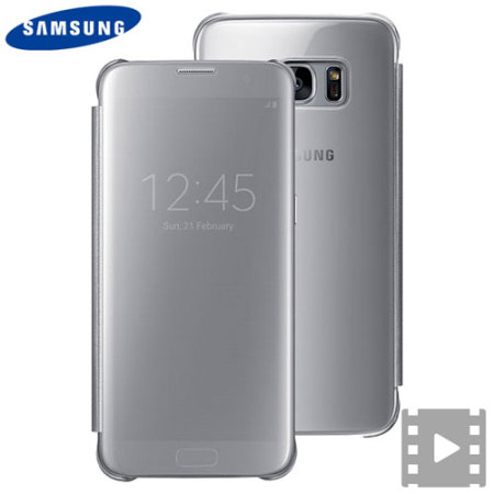 more photos 24ec2 590bd Official Samsung Galaxy S7 Edge Clear View Cover Case - Silver