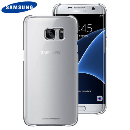 timeless design 4b6a6 e6524 Official Samsung Galaxy S7 Edge Clear Cover Case - Silver