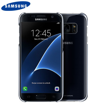 Original Samsung Galaxy S7 Clear Cover Case Hülle in Schwarz