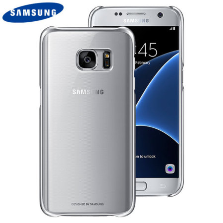 Official Samsung Galaxy S7 Clear Cover Case - Silver